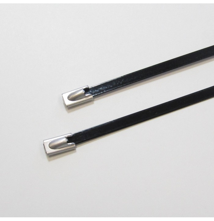 Stainless steel cable ties - Coated image