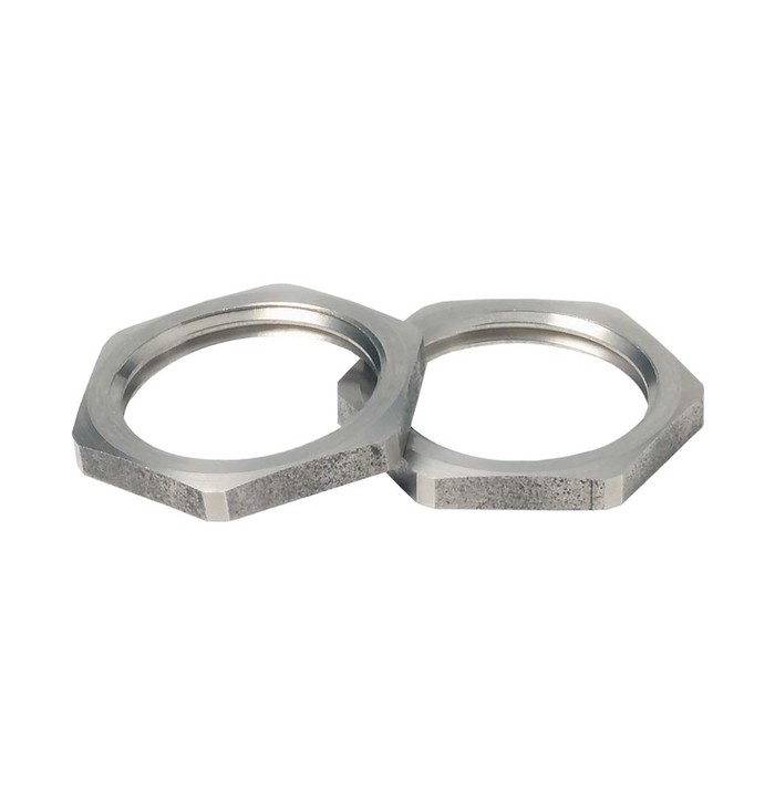 Brass Jacob hexagonal locknuts, metric image